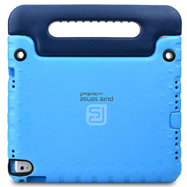 Open case cutouts for camera, volume buttons, charging port for iPad 9.7