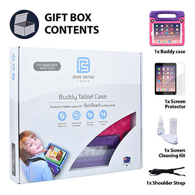 iPad Mini 3 2 1 cover, screen protector, screen cleaning liquid, shoulder strap gift box set