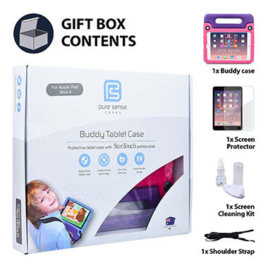 iPad Mini 4 cover, screen protector, screen cleaning liquid, shoulder strap gift box set