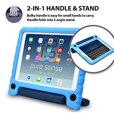 2-in-1 cover with stand & handle for iPad 2, 3, 4