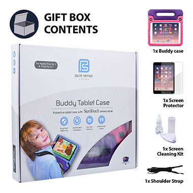 iPad 2, 3, 4 cover, screen protector, screen cleaning liquid, shoulder strap gift box set