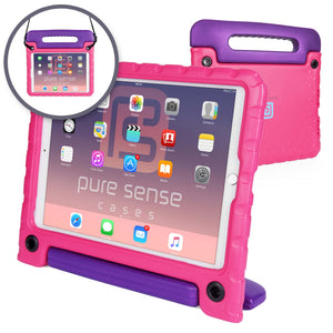 Buddy Antibacterial Protective Kids case for Apple iPad 7, iPad Air 3, iPad Pro 10.5 // Handle+Stand, Shoulder Strap, Screen Spray