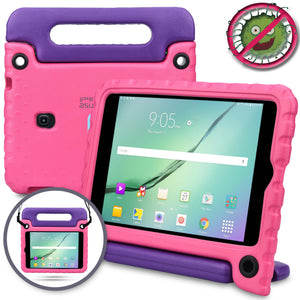 Buddy Antibacterial Protective Kids case for Samsung Galaxy Tab A 8.0 (2018) // Handle+Stand, Shoulder Strap, Screen Spray