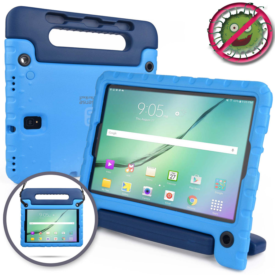 Buddy Antibacterial Protective Kids case for Samsung Galaxy Tab S4 10.5 (2018) // Handle+Stand, Stylus Storage, Shoulder Strap, Screen Spray