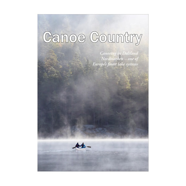 Canoe country map over Dalsland