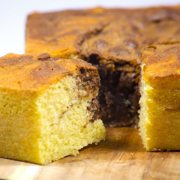 Nutella Marble Butter Cake - Fat Sunday