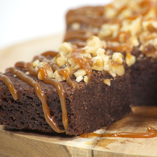 Salted Caramel Fudge Brownie - Fat Sunday