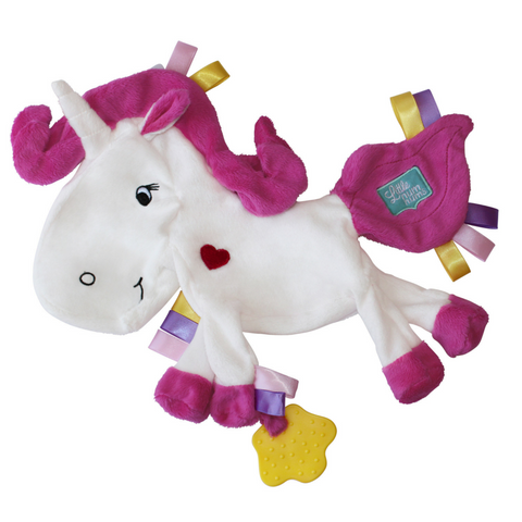 little num nums teething toys Silver the unicorn Taggie Comforter teether