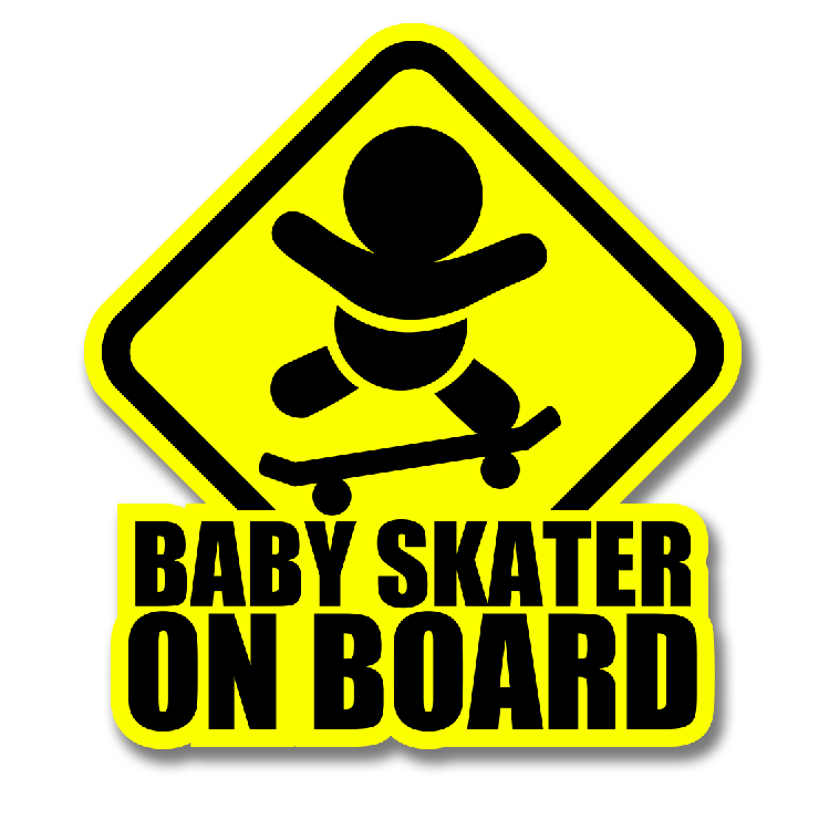 BABY SKATE DECAL