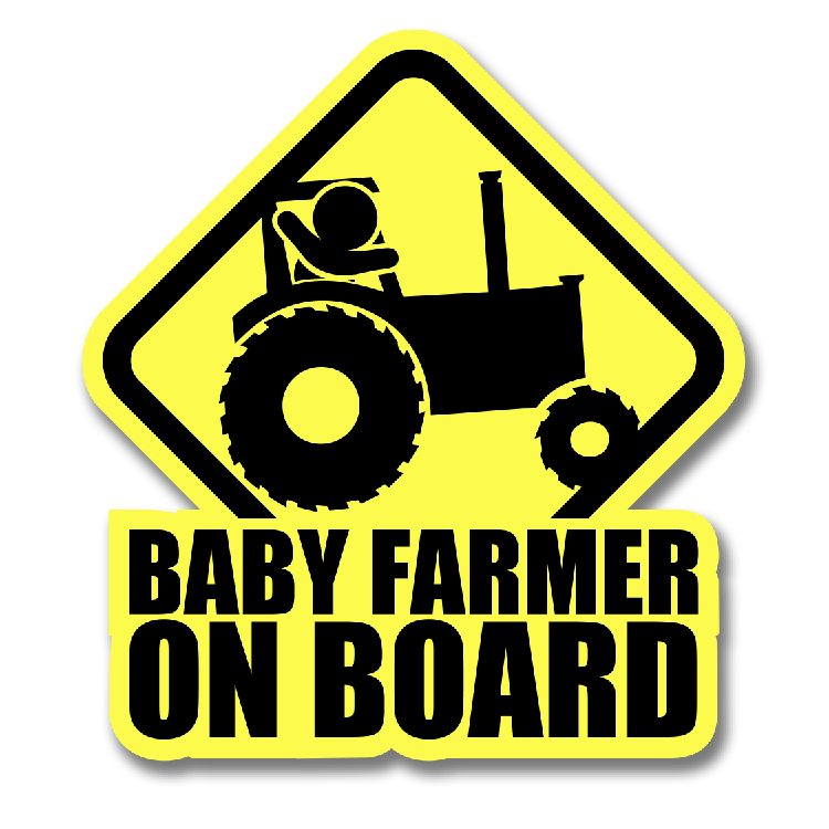 BABY FARMER DECAL
