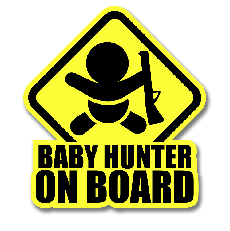 BABY HUNTER DECAL