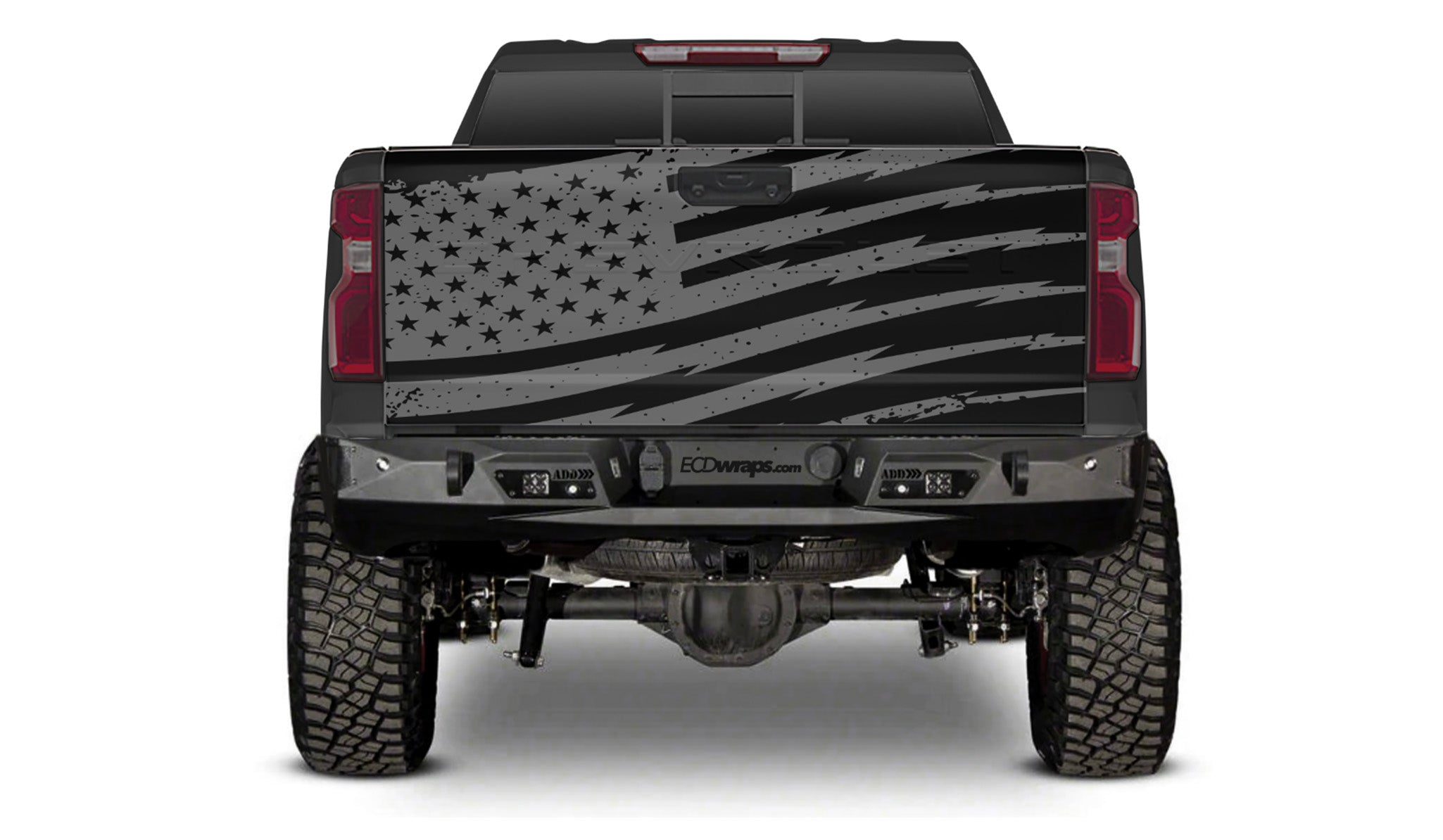 TAILGATE WRAP- GREY FLAG