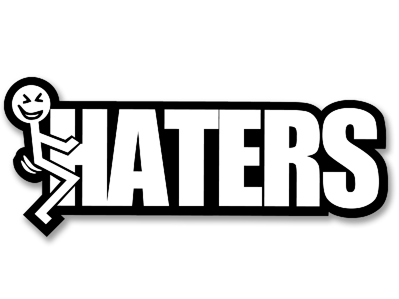 F - HATERS DECAL