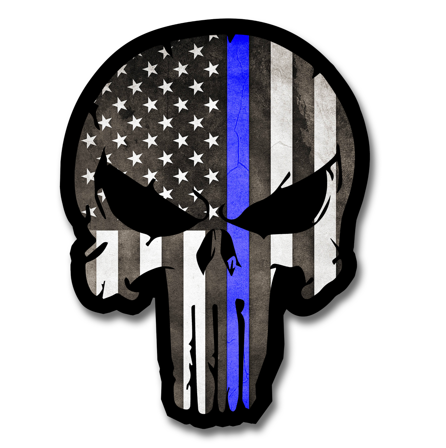 PUNISHER BLUE LINE DECAL