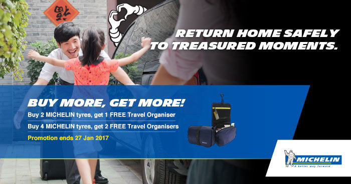 Get Michelin tyres today to return safely for that special moment and enjoy our promotion.
