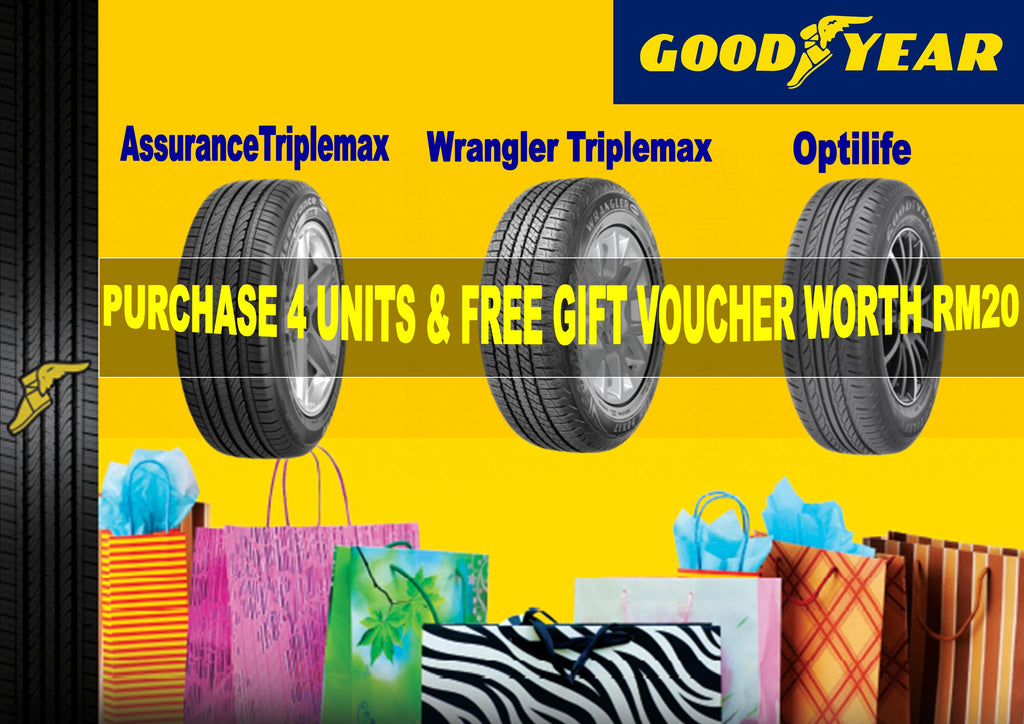 GOODYEAR ASSURANCE TRIPLEMAX , GOODYEAR WRANGLER TRIPLEMAX , GOODYEAR OPTILIFE PROMOTION