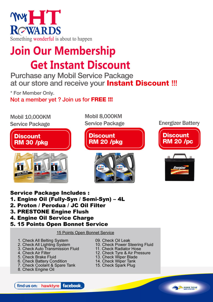 MOBIL SERVICE PACKAGE INSTANT DISCOUNT PROMOTION