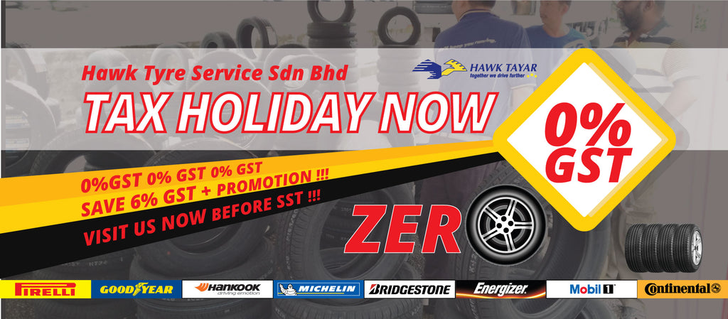 Tax Holiday July 2018 Tyre Promotion