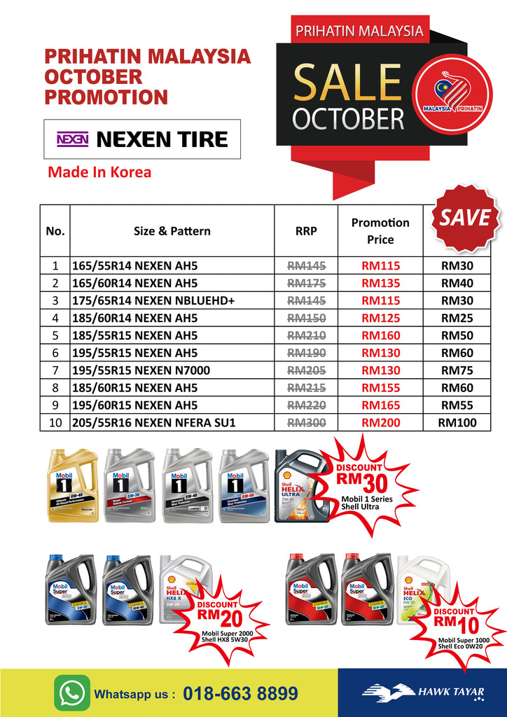 October Promotion - Hawk Tyre