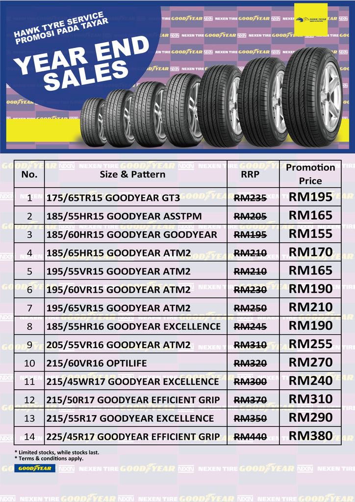 Hawk Tyre Year End Tyre Promotion
