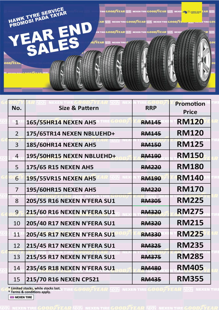 Nexen Tyre Year End Promotion 2019 - Hawk Tyre