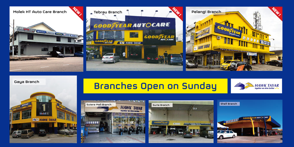 Open on Sunday Hawk Tyre Outlets