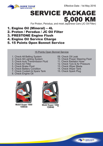 5,000KM SERVICE PACKAGE - Hawk Tyre