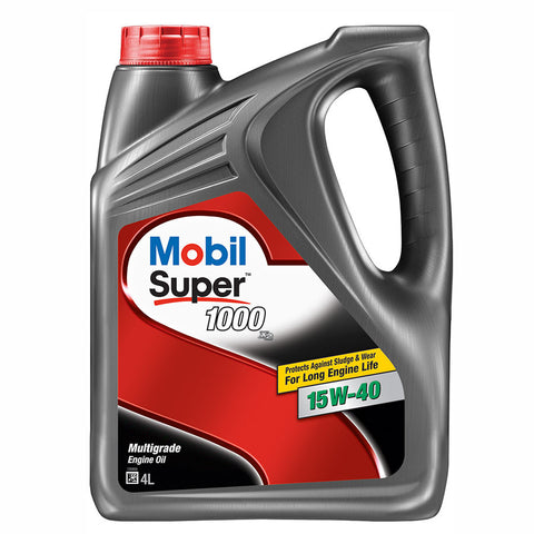 Engine Oils - Mobil Super 1000 x2 15W40 - Hawk Tyre