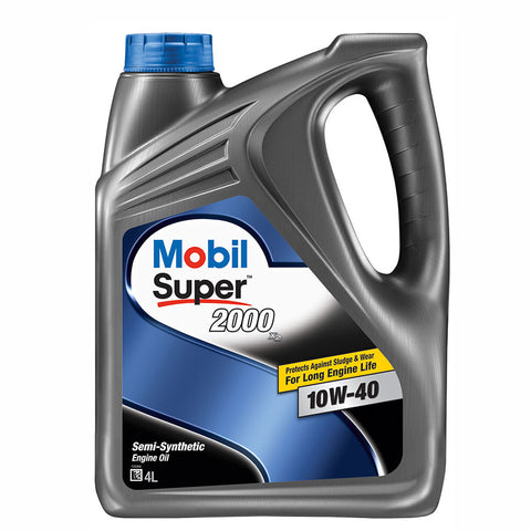 Engine Oils - Mobil Super 2000 x2 10W40 - Hawk Tyre
