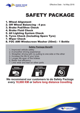 SAFETY PACKAGE - Hawk Tyre