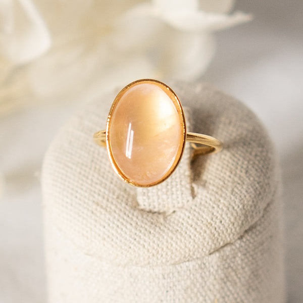 Bague Grande Quartz Rose