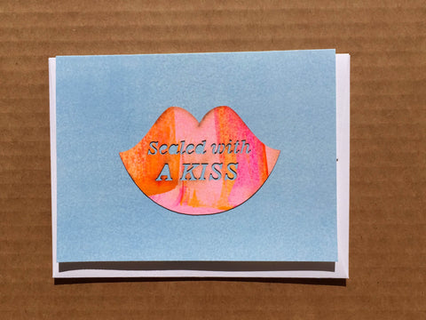 """Sealed with a Kiss"" Lips"