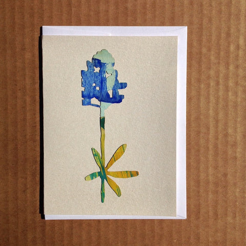 Texas Bluebonnet flower greeting card.
