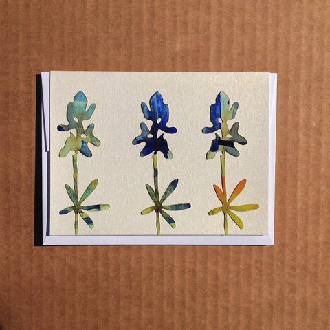 Texas Bluebonnet fields greeting card.