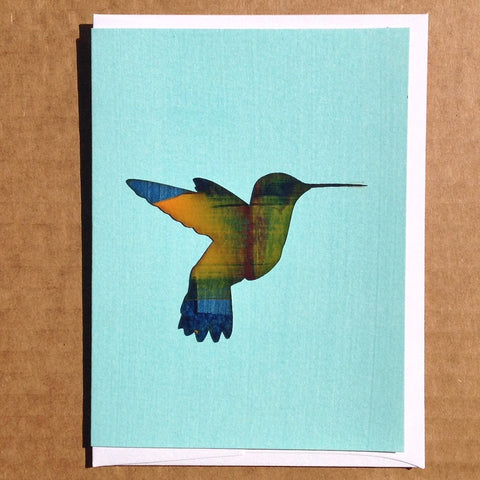 Humming bird everyday hand-painted greeting card