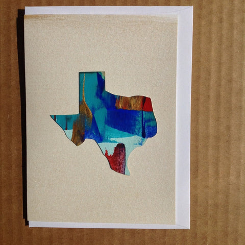 Texas pride patriotic hand-painted greeting card