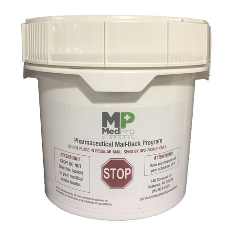 2.5 Gallon OTC Pharmaceutical Disposal Bucket