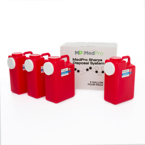 3 Gallon Sharps Disposal System - Multi Pack