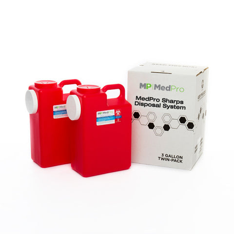 3 Gallon Sharps Disposal System (2 Pack)