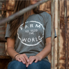 farm to feed the world triblend graphic tee, Rosebud's Tees