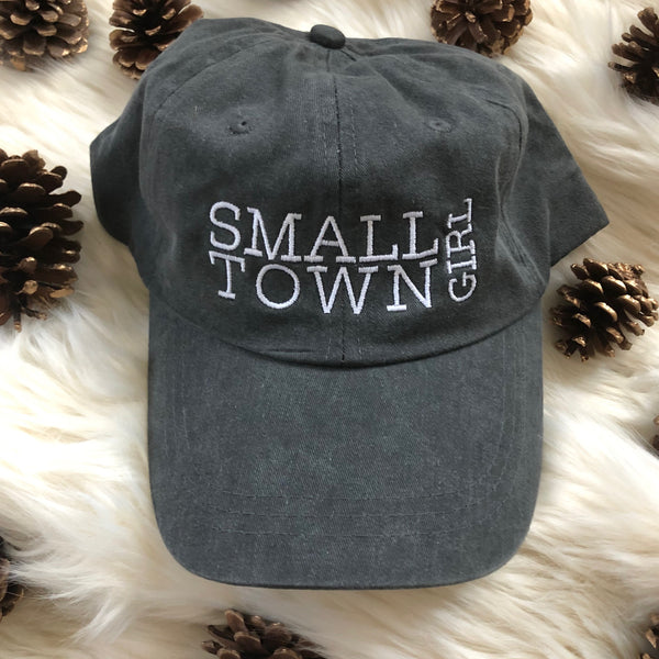 small town girl color washed ball cap, Rosebud's Designs and Apparel hat