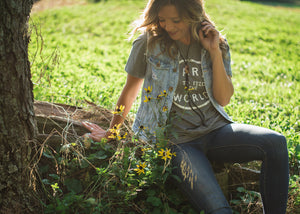 how to style a graphic tee, Rosebud's Tees farm to feed the world