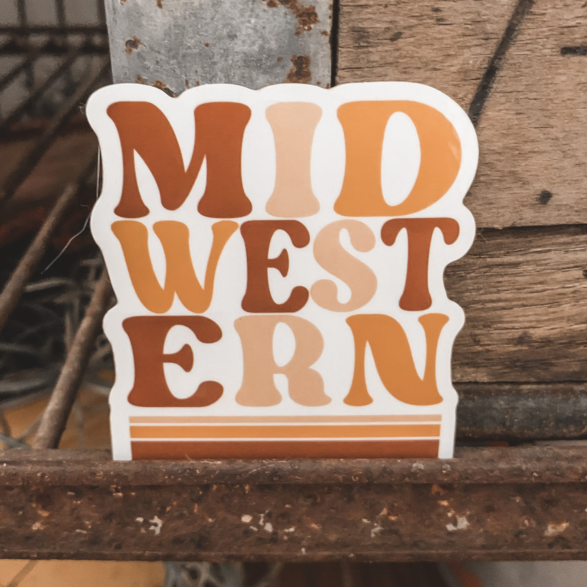 """MID-WEST-ERN"" Sticker"