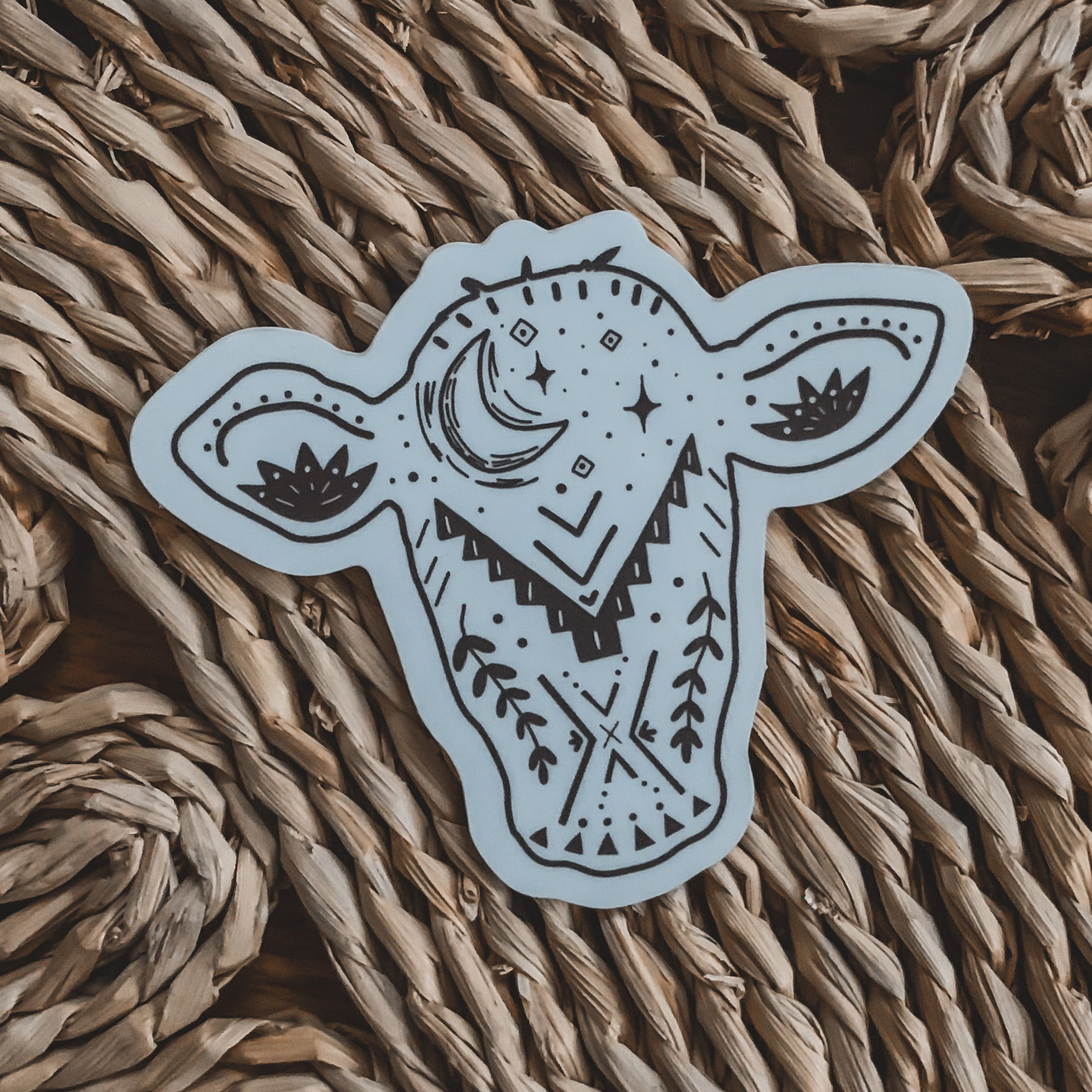 Midnight Heifer Sticker in Plum