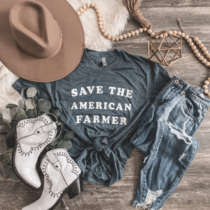 """Save the American Farmer"" - Short Sleeve Graphic Tee - Rosebud's Tees"