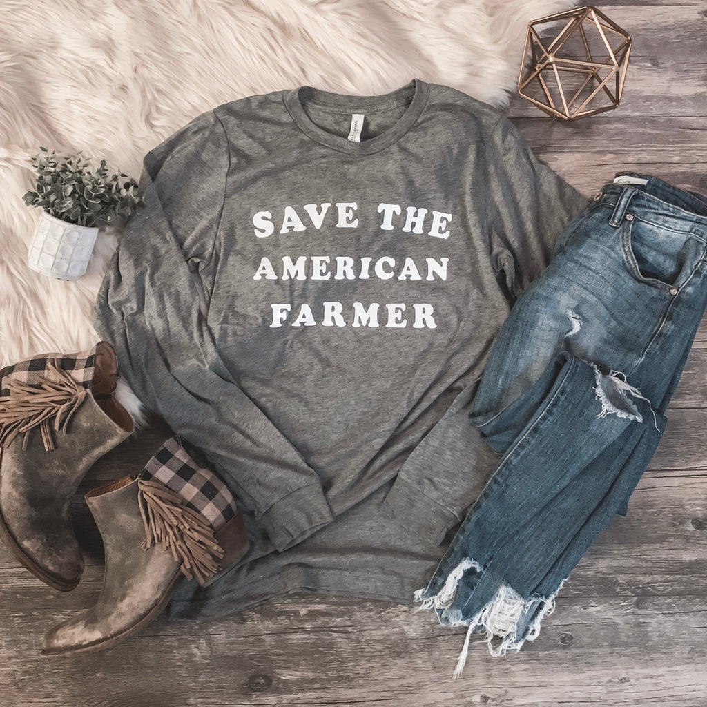 Save the American Farmer - Long Sleeve