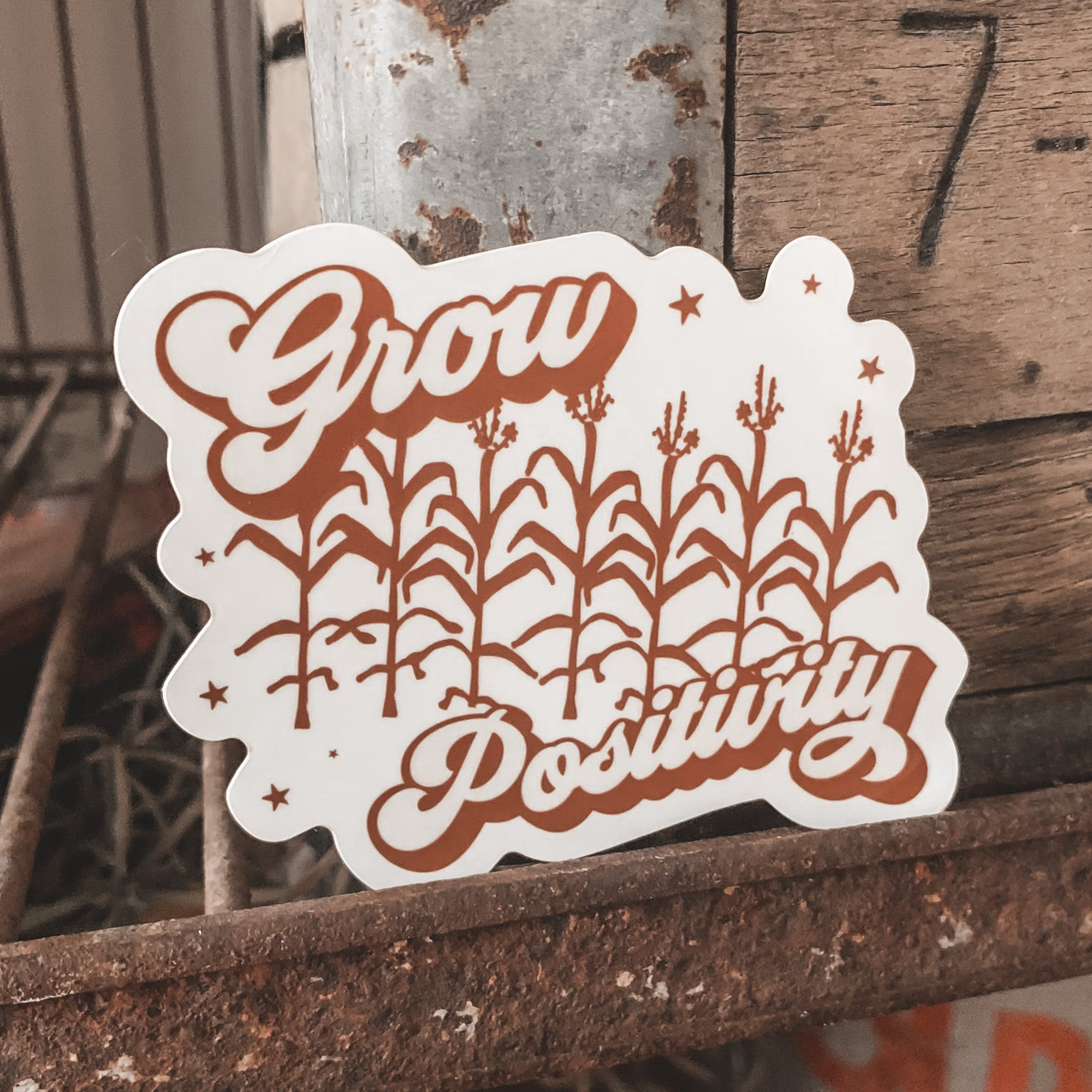 Grow Positivity Sticker - Rosebud's Tees