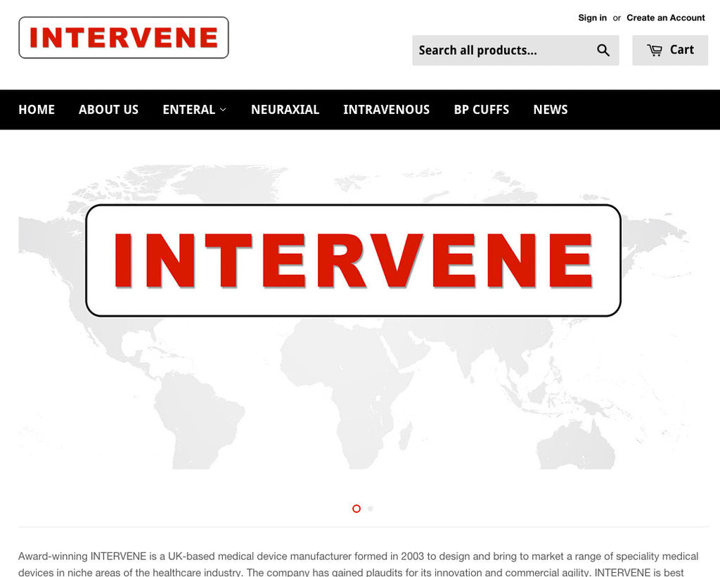 INTERVENE LAUNCH NEW WEBSITE