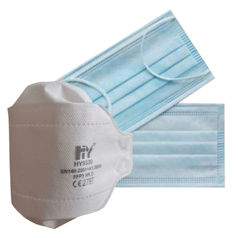 FFP3 – Respirator Masks - Half Mask & Type IIR Fluid Resistance Surgical Masks Bundle (£4.50 each)