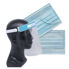 Face Shield & Type IIR Mask Bundle (£0.98 each)